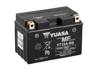 Batterie YUASA YT12A-BS sans entretien livrée avec pack acide - 32YT12ABS