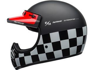 BELL Moto-3 Helmet Fasthouse Checkers Matte/Gloss Black/White/Red Size XS - 18a0e021-4306-43cd-b9b9-894443c966f8