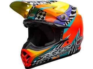 Casque BELL Moto-9 Mips Tagger Breakout Orange/Yellow taille S - 801000129868