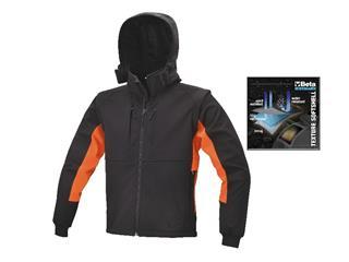 Abrigo BETA de material softshell, con capucha y mangas separables, talla XL - 5250000871