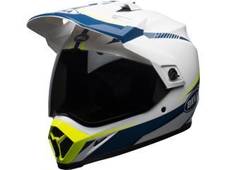 BELL MX-9 Adventure Mips Torch Helmet Gloss White/Blue/Yellow Size XL