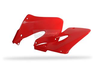 Ouïes de radiateur POLISPORT rouge Honda CRF250R/CRF450R - PS215RF04