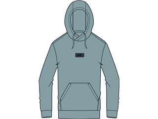 OAKLEY Patch Fleece Hoodie Fog Grey Size S