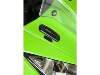 R&G RACING Mirror Blanking Plate Black Kawasaki ZX10R