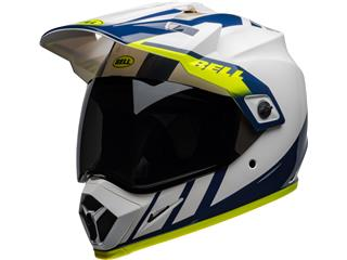Casque BELL MX-9 Adventure Mips Dash Gloss White/Blue/Hi-Viz taille XXL