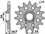 Pignon 14 dents PBR chaîne 525 MV AGUSTA F4 BRUTALE - 46212514