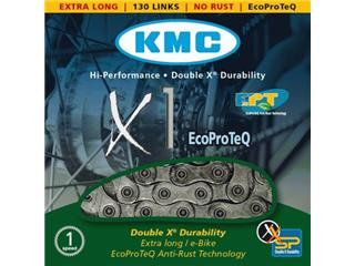 CHAIN KMC X1 ANTIRUST 6.7MM/EPT1/2 X 3/32 X 130 SILVER