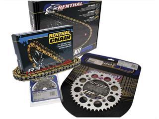 RENTHAL Chain Kit 520 type R3-2 13/50 (Ultralight™ Self-Cleaning Rear Sprocket) Kawasaki KX450F/KLX450R