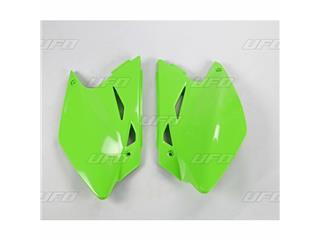 Plaques latérales UFO vert KX Kawasaki KX450F - 78228142