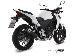 MIVV GP Steel Black Slip-On Honda CB500 F/X