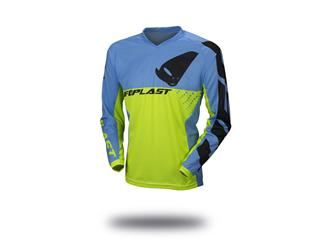 Maillot UFO Division jaune fluo/bleu taille XL