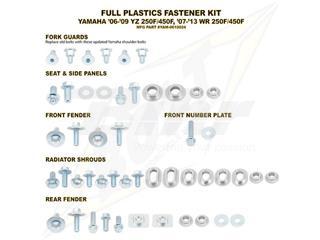 Kit tornillería de plástica Bolt 06-09 YZ250F/450F 07-13 WR250F&07-11 WR450F