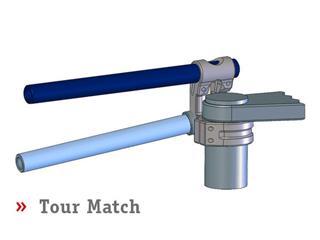 Guidons bracelets relevés LSL Tour Match argent Suzuki GSX-R600/750
