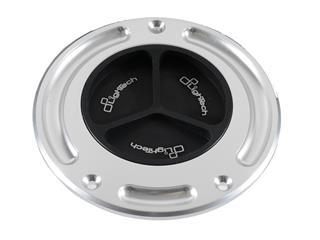 LIGHTECH Fuel Tank Cap Black/Silver Screw Locking Aprilia