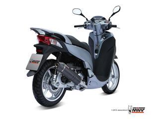 MIVV Stronger Stainless Steel Full Exhaust System Steel Black Muffler/Carbon End Cap Honda SH300