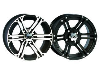 ITP SS112 14x8 4x156 5+3 Aluminum Utility Wheel Black / Silver
