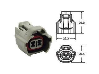 BIHR Female Connector 090 SMTO series OE Type 2 plugs end set Grey - 5pcs