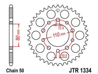 Couronne JT SPROCKETS 36 dents acier pas 530 type 1334 - 47133436