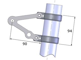 LSL Clubman Headlight Bracket Kit Stainless Steel Universal for USD Fork Ø50/52mm  - 1f37acf1-f1d3-41fc-896b-cf219f2f5a13