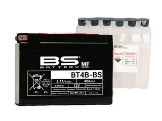 BS BATTERY Batterien BT4B-BS wartungsfrei mit säurepack geliefert