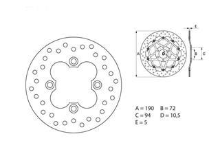 BREMBO Oro Brake Disc Round Fix - 53.240720