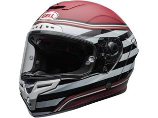 BELL Race Star Flex DLX Helmet RSD The Zone Matte/Gloss White/Candy Red Size M - 800000020369