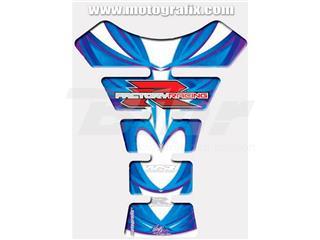 Protector de depósito Motografix SUZUKI 1 pieza blanco/Azul