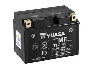 Batterie YUASA TTZ14S sans entretien livrée avec pack acide - 32TTZ14S