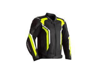 RST Axis CE Jacket Leather Black/Neon Yellow Size XL Men