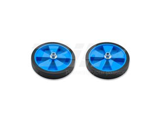 Par de ruedas completas para estabiciclo llanta azul