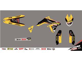 Kit déco CROSS FIRE jaune KUTVEK Suzuki RM-Z250 - 78201265
