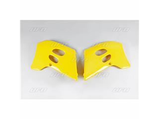 Ouïes de radiateur UFO jaune Suzuki RM125/250