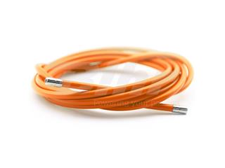 Funda cable acero laminado Ø5 naranja 2m