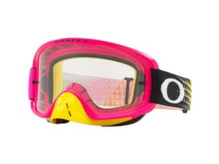 Masque OAKLEY O Frame 2.0 MX Dissolve Pink Yellow écran transparent + Dark Grey