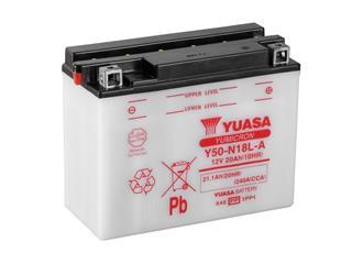 Batterie YUASA Y50-N18L-A conventionnelle - 32Y50N18LA