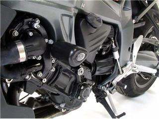Tampons de protection R&G RACING Aero noir BMW K1200R/1300R