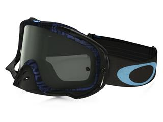 OAKLEY Crowbar MX Goggle Distress Tagline Blue Dark Grey Lens
