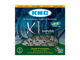 CHAIN KMC X1 ANTIRUST 6.7MM/SILVER/EPT 1/2 X 3/32 X 110