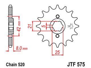 Pignon JT SPROCKETS 14 dents acier pas 520 type 575 - 46057514