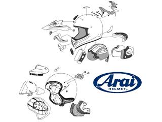 ARAI Central Top Vent IC-Duct-5 Pearl White (D. Pedrosa) for RX-7 V Helmets