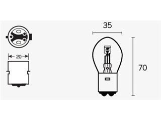 Ampoule V PARTS S1 12V25/25W culot BA20d 10 pcs - 320078