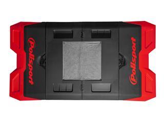 Tapis récupérateur pliable POLISPORT Bike Mat bicolore rouge/noir  - 24995d8b-3eb0-48b2-869e-baee02d12f4d