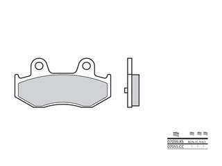 Plaquettes de frein BREMBO 07055XS carbone céramique organique