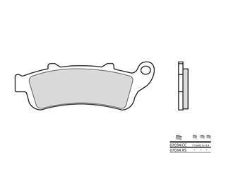 BREMBO Bremsbelage 07034CC carbon keramik