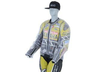R&G RACING Racing Rain Jacket Transparent Size XXL