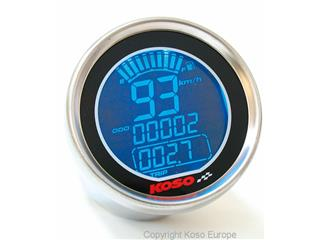 Koso DL01-S LCD GP Style round universal speedometer