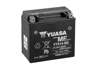 Batterie YUASA YTX14-BS sans entretien livrée avec pack acide - 32YTX14BS
