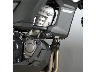 Tampons de protection R&G RACING Aero noir Kawasaki KLZ1000 Versys