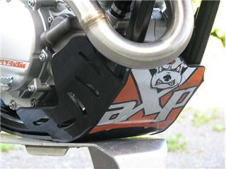 AXP GP HDPE Skid Plate Black/Orange Sticker KTM SX-F250