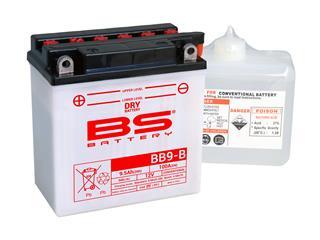Batterie BS BATTERY BB9-B haute performance livrée avec pack acide - 321827